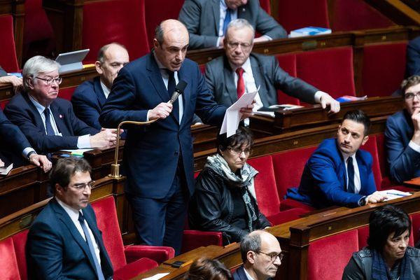 Le député LR Olivier Marleix, lors d'une séance de questions au gouvernement.