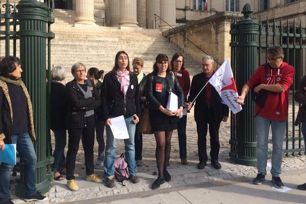 """Montpellier - des associations de demandeurs de droit d'asile accusent préfet et cour d'appel de """"violations du droit""""- 26 octobre 2017."""