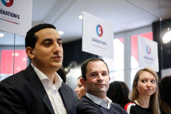 Ali Rabeh, actuel maire de Trappes et Benoît Hamon en 2018