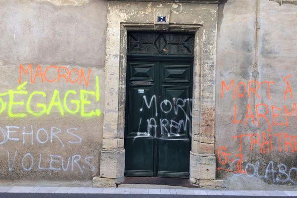Le domicile du député LREM de la 5ème circonscription de l'Hérault tagué pour la troisième fois en deux semaines - 28 décembre 2018