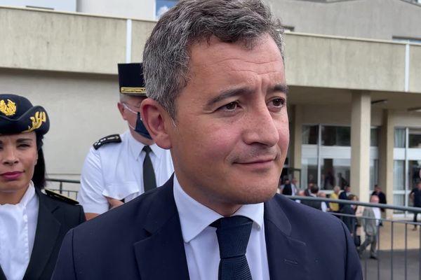 Gérald Darmanin, ministre de l'Intérieur, en visite le 16 septembre 2021 en Corrèze