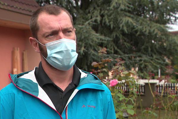 Brice Schott est pompier professionnel dans le Territoire de Belfort.