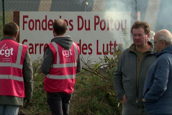 A Ingrandes-sur-Vienne, les salariés de la Fonderie Fonte sont face à l'incertitude sur la poursuite d'activités.