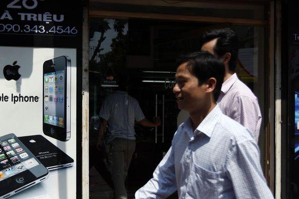 Publicité d'un smarphone à Hanoï, 1 octobre 2012