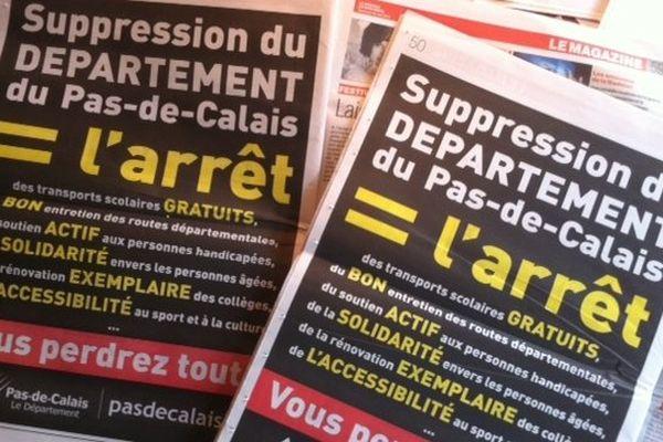 Dans la presse hebdomadaire du Pas-de-Calais ce mercredi.
