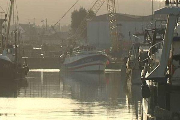 Port en Bessin ce dimanche matin