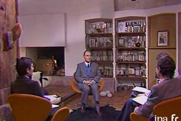François Mitterrand présente ses voeux depuis Latche dans les Landes en janvier 1983 sur Antenne 2