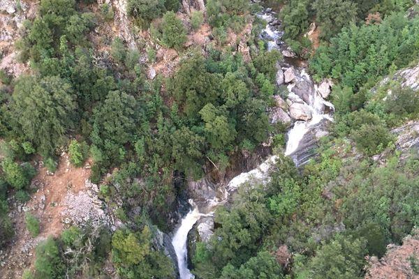 Le canyon de Zoicu à Soccia (Corse du Sud) où cinq personnes ont perdu la vie le 2 août 2018.
