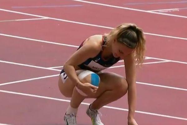 Laura Valette, victime d'une chute, il y a trois semaines n'a pu se qualifier pour le 100 m haies.