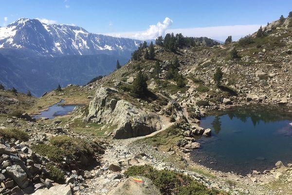Point de vue depuis les hauteurs de Chamrousse (Isère).