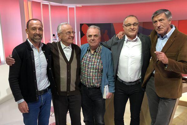 De gauche à droite L.Leblanc, JP Micaud, B.Verret, P.Cagnato et C.Louis