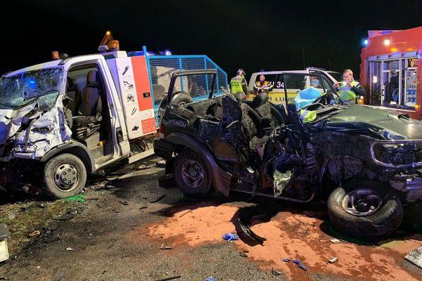 Le choc latéral entre les deux véhicules a été très violent, jeudi soir, sur la commune de Codognan, dans le Gard. On déplore un mort et 6 blessés dont 3 très graves.