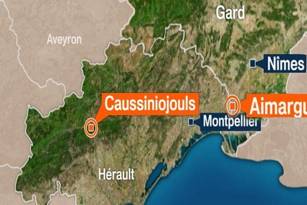 2 hommes arrêtés à Aimargues (Gard) et Caussiniojouls (Hérault), dans le cadre d'une opération anti-djihad à Lunel.
