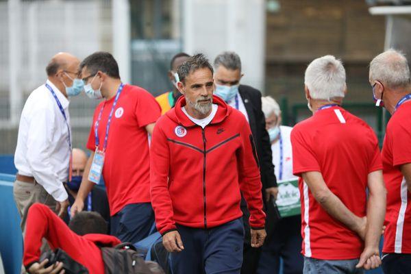Marco Simone lors de la rencontre entre Châteauroux et Saint-Brieuc, le 3 septembre 2021.
