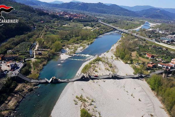 Le pont d'Aulla dans le nord de l'Italie.