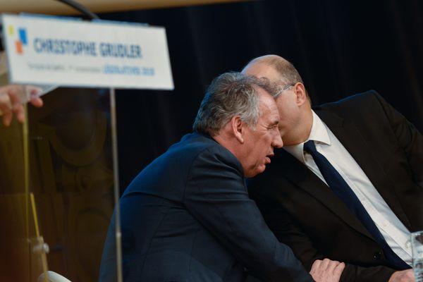 François Bayou est venu soutenir Christophe Grudler