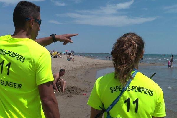 Les secouristes de Narbonne plage rappellent les consignes de sécurité.