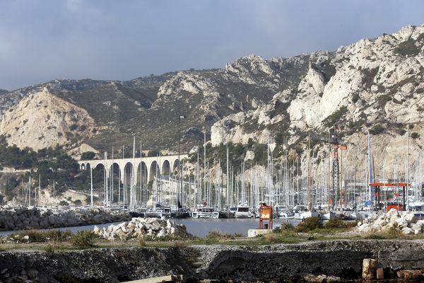 Le quartier de l'Estaque à Marseille englobé dans la 7e circonscription où le taux de participation est le plus bas enregistré dans la région.