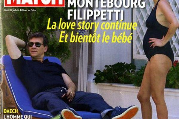 Arnaud Montebourg et Aurélie Fillippetti en Une de Paris Match - Bientôt le bébé
