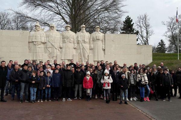 De nombreux habitants de Colombier-en-Brionnais sont dans la Meuse pour assister à l'inhumation du sergent Claude Fournier dans la nécropole nationale de Douaumont
