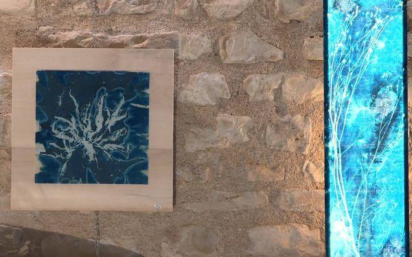 Deux réalisations d'Agnès Clairand, une artiste poitevine.