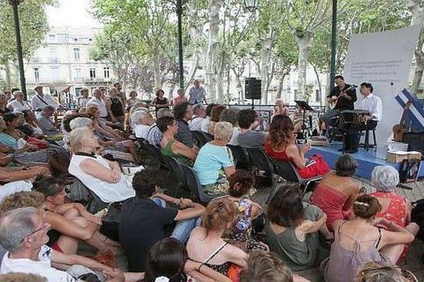 """Sète (Hérault) - festival """"Voix vives de Méditerranée en Méditerranée""""- 2015."""