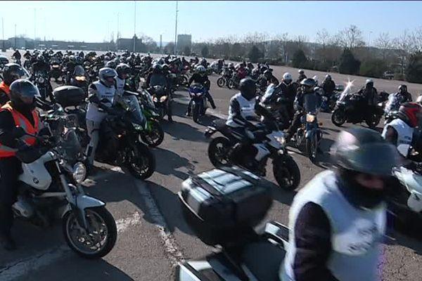 Les motards étaient nombreux au départ de Nancy