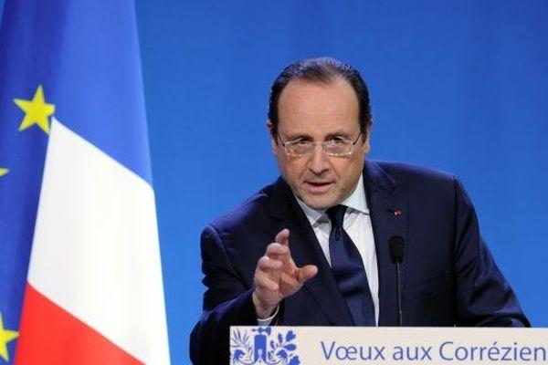 François Hollande lors de ses vœux aux Corréziens, à Tulle, le 18 janvier 2014.