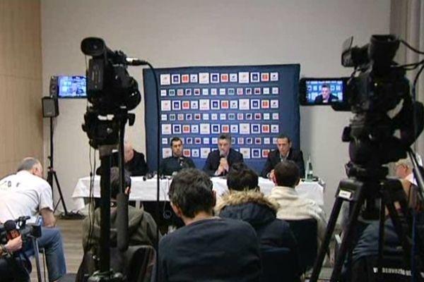 Montpellier : conférence de presse du MAHB après l'annonce du départ de Nikola Karabatic - 1er février 2013.