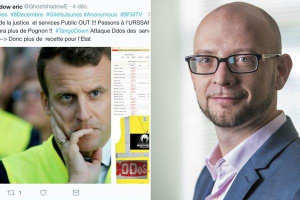 """David Grout, directeur technique Europe et Moyen-Orient de la société de cybersécurité FireEye détaille les cyberattaques de """"gilets jaunes"""" détectées début décembre"""