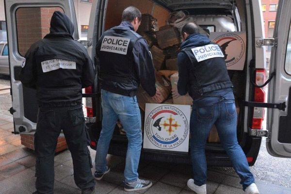 Les policiers sont saisi 1,6 tonne de résine de cannabis.