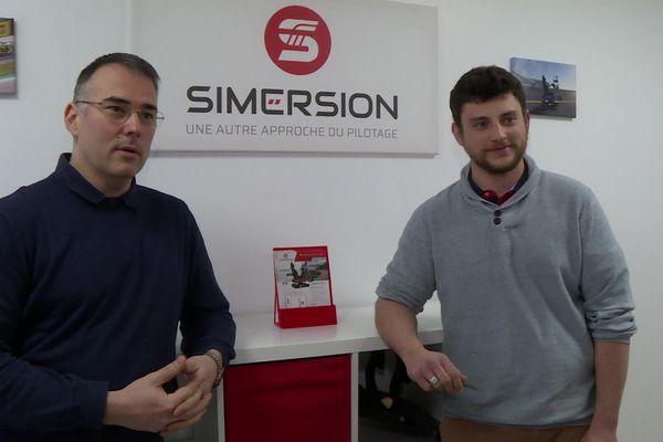 Pierre Maquet et Pierig Bobet les co-fondateurs de Simersion
