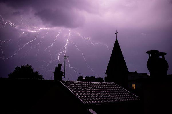 L'Ardèche, la Drôme et l'Isère ont été placés en vigilance orange pour risque d'orages et de fortes pluies le 15 septembre 2021. (Illustration)