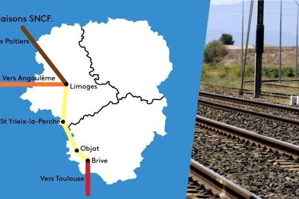 Quatre lignes de train passant par le Limousin sont perturbées.