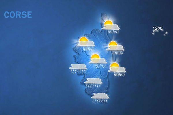 La météo du vendredi 2 mars 2018 en Corse