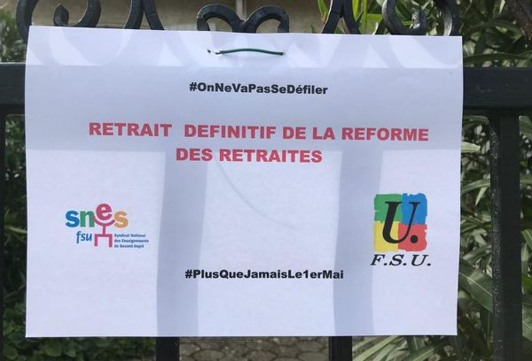 Montpellier - des affiches politiques - 1er mai 2020.