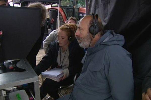 """Le réalisateur césarisé est en tournage en Côte d'Or pour son 13e long métrage intitulé """"le vin et le vent""""."""