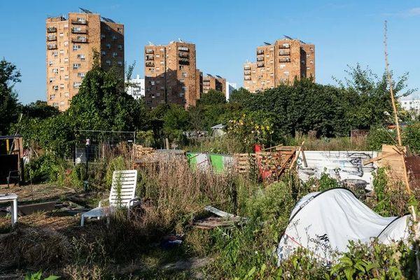 Les jardins ouvriers d'Aubervilliers (Seine-Saint-Denis), le 2 septembre 2021.