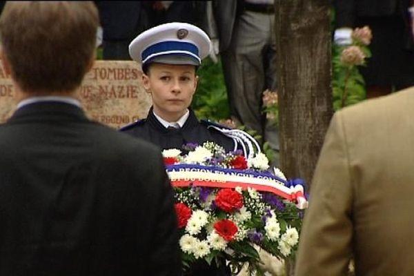 Image d'archive de la commémoration de la libération de Besançon en 2013