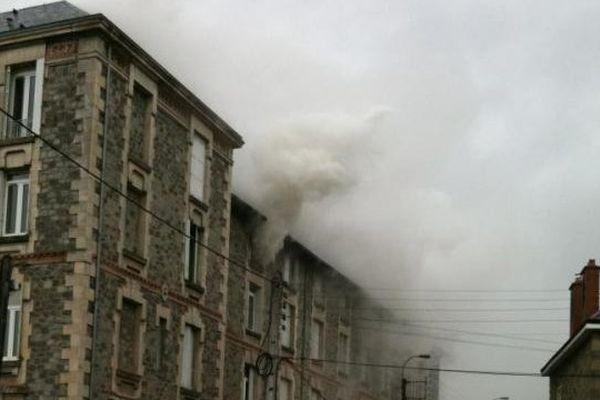 Incendie au Grand Séminaire à Limoges