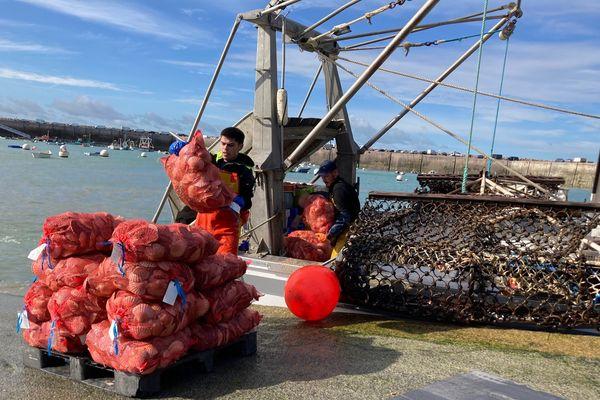 Retour de pêche à la coquille à Erquy