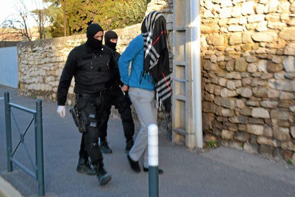 Coup de filet anti-terroriste à Lunel le 27 janvier 2015.