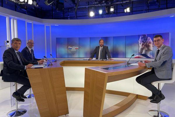 Débat Elections départementales 2021 dans le Rhône présenté par Paul Satis avec Daniel Valéro (LR), Jules Joassard (PS) et Rémi Berthoux (RN),