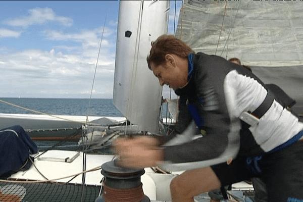 Sur l'ex ELF-Aquitaine, skippé aujourd'hui par Gilles Lamiré