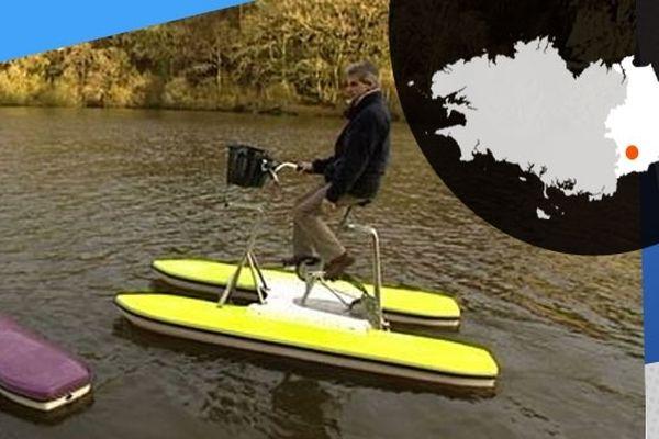 Philippe Bossis a inventé le vélo nautique, parfait pour une promenade sur la Vilaine