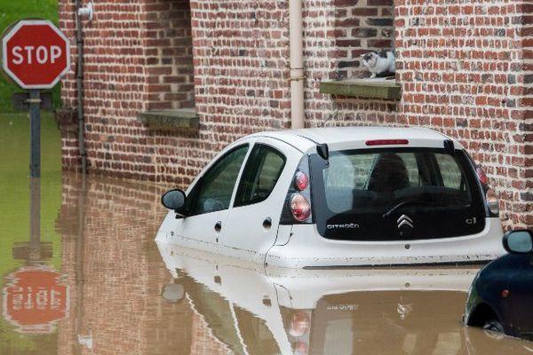 Inondations à Bruay-la-Buissière.
