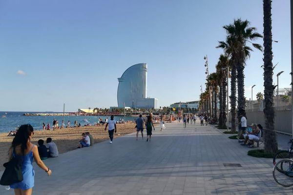 La plage de Barcelone en Catalogne