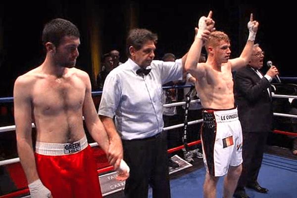 Maxime Beaussir a remporté son combat face au Géorgien Ramaz Gogichashvili au quatrième round
