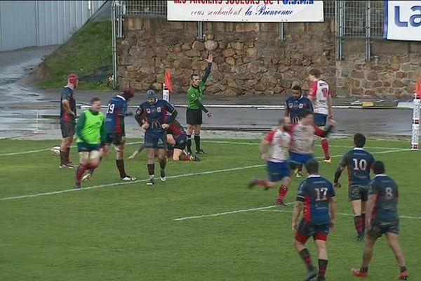 9ème victoire consécutive pour l'USAL qui a battu Clermont Cournon d'Auvergne 13 à 11