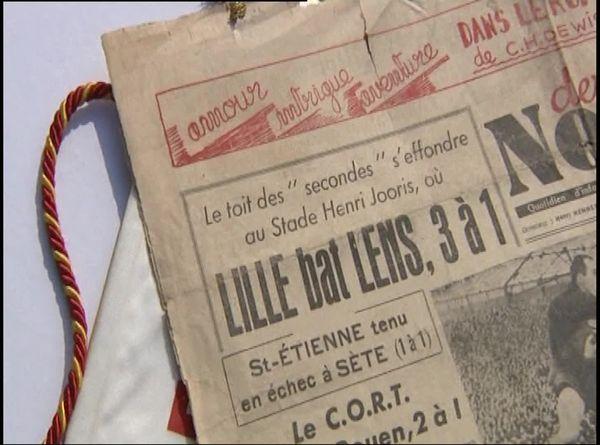 Article de presse au lendemain du derby de 1946 : une tribune s'était effondrée sans faire de victime